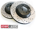 StopTech Drilled & Slotted Front Rotors - Honda/Acura