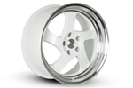 Whistler Kr1 Wheel 18X9.5 5X100 +35 Offset - White W/ Machined Lip