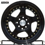 Aodhan AH01 Black w/ Gold Rivets