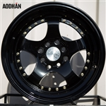 Aodhan AH03 Black w/ Gold Rivets