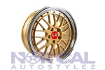 Lm Replica Wheels 5X114.3 (Front) 18X8 +38  (Rear) 18X9 +38  Gold