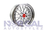 Lm Replica Wheels 5X114.3 (Front) 18X8 +38 (Rear) 18X9 +38  Silver