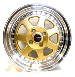 Drag Dr27 Gold 16X8.25 +15 4X100