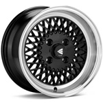 Enkei 92 Black W Polished Lip 15X8 +25 4X100