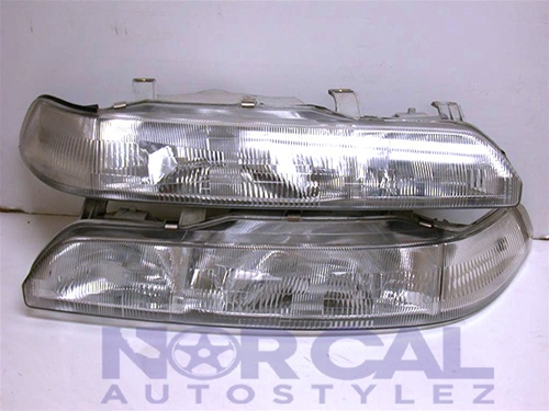 JDM IN9093 HL 2 90 93 acura integra jdm stanley one piece headlights pair