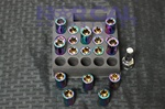 Hex Style Lug Nuts W/ Key Neo Chrome