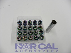 Open End Muteki Tuner Style Lug Nuts Neo Chrome