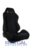 Black With Red Stitching Jdm Type R Style Racing Seat