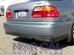99-00 Honda Civic 2Dr Coupe & 4Dr Sedan Type R Style Rear Lip