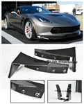 14-Up Corvette C7 Z06 Z07 Stage 3 Front Splitter Extension Winglets ABS Kit