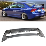 06-11 Civic 4Dr Sedan MUGEN RR Style Trunk Carbon Wing Spoiler