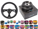 Nrg Quick Release Combo Nrg 320Mm Sport Leather Steering Wheel With Carbon Fiber Look Inserts