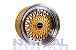 Traklite Crosstread Wheels Gold 15X8 +15  Universal 4X100 & 4X114.3