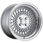 Klutch Sl1 16X8 4X114.3 +15 Silver W/ Polished Lip Wheels