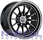 Traklite Chicane Wheels 15X8.25 +20 4X100 & 4X114.3 Black Chrome