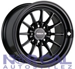Traklite Chicane Wheels 15X8.25 +20 4X100 & 4X114.3 Matte Black