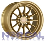 Traklite Chicane Wheels 15X8.25 +20 4X100 & 4X114.3 Matte Gold