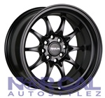 Traklite Holeshot Wheels 15X8 +0 4X100 & 4X114.3 Matte Black