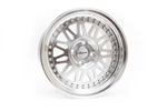 Wheel Supreme Ds-12 15X8 +25 Offset 4X100 Gloss Silver W/ Machined Face + Lip