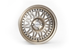 Wheel Supreme Ds-12 16X8 +25 Offset 4X100 Full Machined Bronze (Black Rivets)